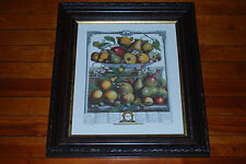 Antique Engraved H Fletcher Fruits of 1732 March Artwork (Framed) Robert Furber