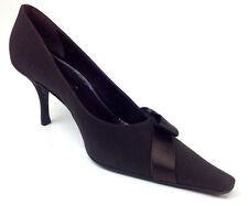 "Versani Womens Heels ""Crepe"" Color Brown Size 9.5 B"