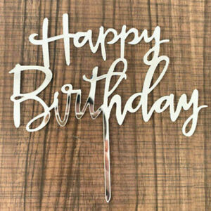 Happy Birthday Cake Topper Insert Card Acrylic Cake Decoration Party Supplies