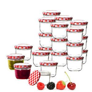 24er Set Sturzgläser 230ml Marmeladengläser Einmachgläser mit Schraubdeckel Glas