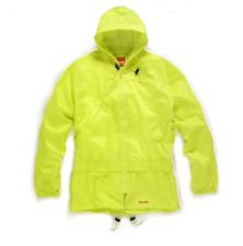 Mens Scruffs Waterproof Rainsuit Jacket Trousers Black Yellow Workwear Hi-Vis