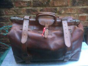 Vintage Gladstone Leather Bag Case