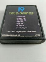 Atari 2600 Brain Games Text label Sears Tele Games Rare!