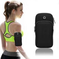 1x Sport Armband Running Bag Universal Smartphone Earphone Holes Keys Arm Bags