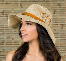 Women s Straw Fedora Floppy Beach Camping Vacation Sun Summer Hat Natural  Raffia 152ede7cc8b9
