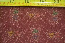 By 1/2 Yd, Floral on Brick-Red, Quilting, Kansas Troubles Quilters, Moda, M7083