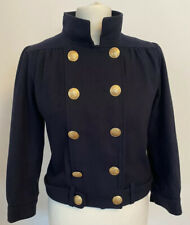 Topshop Size 12 Military Style Cropped Wool Blend Jacket Steampunk