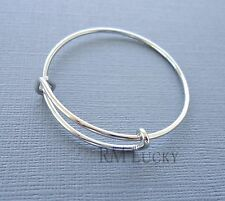 Kids children Expandable wire bangle charm bracelet plane Adjustable 14 cm n29