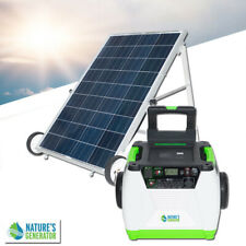 100W Solar Powered Portable Generator with Electric Start solar battery charger