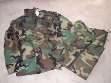 SEABEES M65 WOODLAND FIELD JACKET w LINER & GORTEX EXTENDED COLD PANTS CAMO SZ M