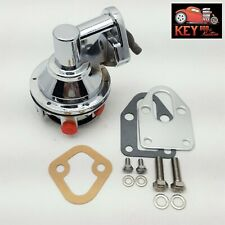 Small Block Chevy Chrome Fuel Pump 80 Gph Sbc 283 305 327 350 400 Mounting Plate