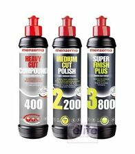 Menzerna Pro 250ml polaco muestra Kit-Heavy 400 medio 2200 acabado 3800 Polaco