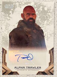 2020 Star Wars The Mandalorian Autographs Tait Fletcher as Alpha Trawler