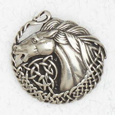 NEW Celtic Horse Pewter Pendant Necklace Courtney Davis
