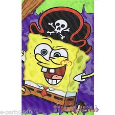 SPONGEBOB Pirate Party PLASTIC TABLE COVER ~ Birthday Supplies Decorations Cloth