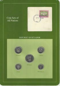 Coin Sets of All Nations, Ecuador 5 coin set, green card