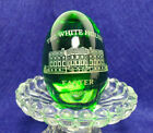 Presidential White House Easter Egg 2007 Green Glass-Each are HAND MADE & ETCHED