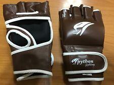 MMA GLOVES PRO 4oz pythonfighting brown cowhide leather ufc fight medium