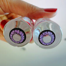 Kitty Kawaii Hyper Violet Color Contact Lenses for Cosplay, Party