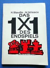 1965 German Vintage Book Chess The 1x1 of the Final Game H. Staudt Milescu Milu