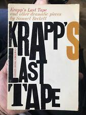 KRAPP'S LAST TAPE by SAMUEL BECKETT 1st Evergreen (stated) Grove Press 1960