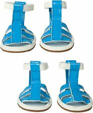 Blue Dog Sandals - XS - Set of 4 - Protect Hot Surfaces - PVC - Pet Life NWT