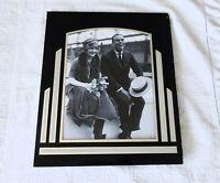 Art Deco Reverse Painting Frame Glass Vintage Mid Century Black Silver Photos