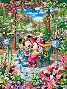 Tenyo X Disney Puzzle Mickey and Minnie Blooming Love 500pc