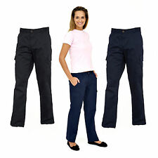 Polycotton Cargos Loose Fit Trousers for Women