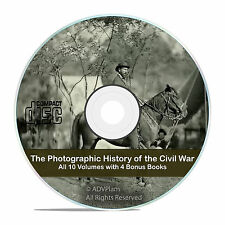 The Photographic History of the Civil War, 10 volume, photos, 4 BONUS books -V56