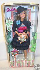 #5500 NRFB Mattel White Swan Hotel Going Home Adoption Barbie #5 in Dark Blue