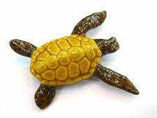 Ceramic Turtle Figurine Animal Handcrafted Porcelain Miniature Collectible