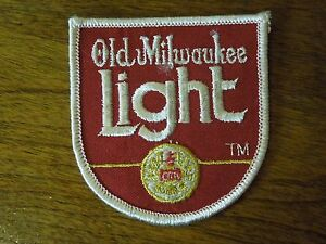 Old Milwaukee Light Red, Gold and White Sewing Patch