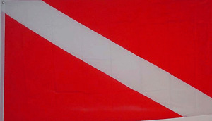 NEW 2x3ft DIVER DOWN SCUBA DIVING DIVE MARKER BETTER QUALITY FLAG usa seller