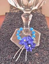 Blue flower decoration for glass table parties & handmade gift
