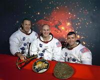 New 8x10 NASA Photo: Original Apollo 13 Astronaut Crew in 1970