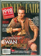VANITY FAIR DEC 1998 EWAN MCGREGOR WOODY ALLEN STEVE JOBS LEWINSKY CAMERON DIAZ