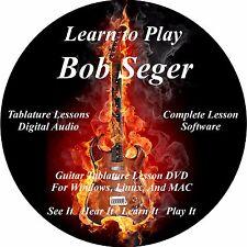 Bob Seger Guitar TABS Lesson CD 29 Songs + Backing Tracks + BONUS!