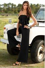 BOSTON PROPER women's Black Strapless Ruffled JUMPSUIT* XS