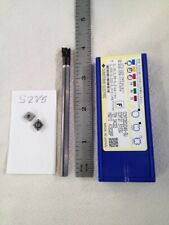 """New listing New 1/4"""" Carbide Boring Bar. C04-Sclcr-2 W/ 10 Sumitomo Ccmt #2 Inserts (S285)"""