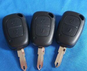 THREE Renault Clio Master Traffic 2 button Key Fob Remote's