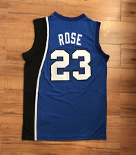 Vintage D Rose #25 Basketball Jerseys Blue White Derrick Fans Shirts