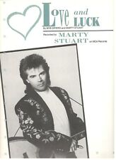 "MARTY STUART ""LOVE AND LUCK"" SHEET MUSIC-EXTREMELY RARE-BRAND NEW ON SALE-MINT!!"