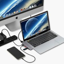 USB C Hub Adapter,7 In 2 Dual Type-C Docking Station Thunderbolt 3 Pro HDMI Port