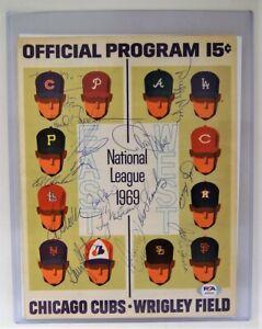 1969 N.Y. Mets Team Signed Program 14 Signers PSA/DNA LOA Nolan Ryan Tom Seaver