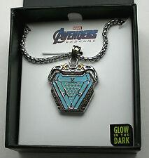 Marvel Comics Iron Man Arc Reactor Glow In Dark Necklace Pendant New Box Unisex
