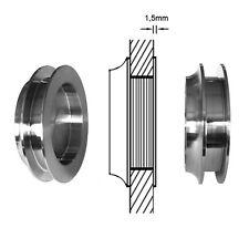 Edelstahl Griffmuschel Türmuschel Glasschiebetür Glas Schiebetür 8-12mm ME47