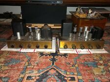 PAIR VINTAGE EICO HF20 TUBE AMPLIFIERS - WORKING
