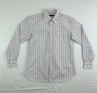 Canali Striped Dress Shirt Mens Medium Long Sleeve Button Down Made In Italy