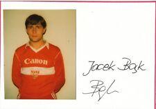 Jacek Bak  Polen  Fußball Karte original signiert 395520
